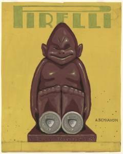 Bozzetto per pubblicità di tacchi Stella Pirelli