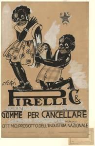 Bozzetto per pubblicità delle gomme per cancellare Pirelli