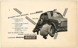 Bozzetto per pubblicità dei pneumatici Inverno Pirelli