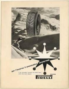 Bozzetto per pubblicità dei pneumatici Inverno