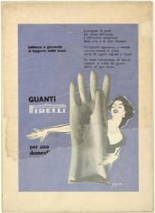 nuovi prezzi più bassi ma non volgare Sconto speciale Bozzetto per pubblicità dei guanti per uso casalingo Pirelli