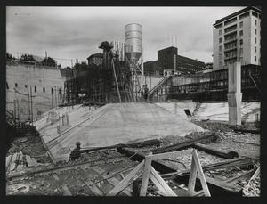Costruzione Centro Pirelli - agosto 1956 - foto Publifoto