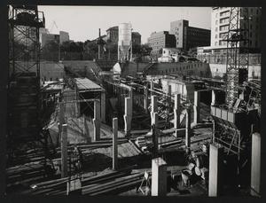 Costruzione Centro Pirelli - settembre 1956 - foto Publifoto