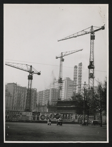 Costruzione Centro Pirelli - marzo 1957 - foto Calcagni