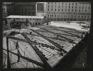 Costruzione Centro Pirelli - 3 aprile 1957 - foto Publifoto