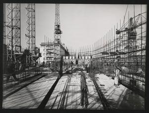 Costruzione Centro Pirelli - 17 aprile 1957 - foto Publifoto