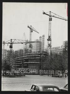 Costruzione Centro Pirelli - maggio 1957 - foto Publifoto