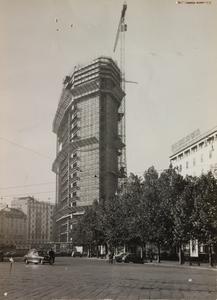 Costruzione Centro Pirelli - ottobre 1957 - foto Calcagni