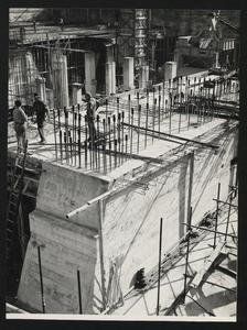 Costruzione Centro Pirelli - ottobre 1956 - foto Calcagni