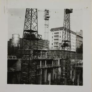 Costruzione Centro Pirelli - 15 novembre 1956 - foto Calcagni