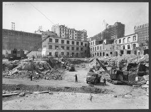 """La demolizione della """"Brusada"""" - agosto 1955 - foto Ballo"""