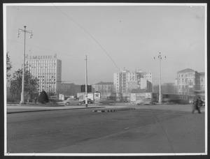 """La demolizione della """"Brusada"""" - Veduta dell'area dove sorgerà il Centro Pirelli"""
